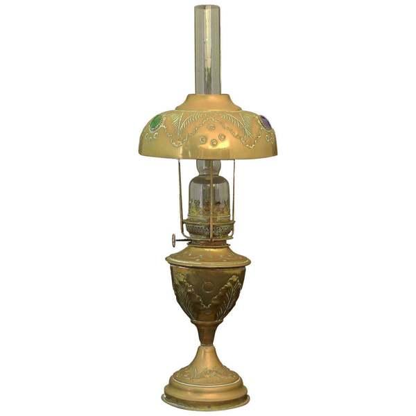 French Brass Glass Cabuchons, Circa 1910
