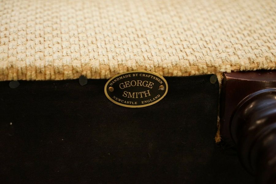 Details about  /RRP £13,000 GEORGE SMITH SCROLL ARM THREE SEATER SOFA PAISLEY UPHOLSTERY FABRIC