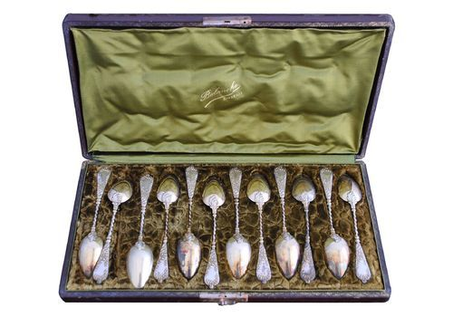 Set Of 12 Silver Spoons