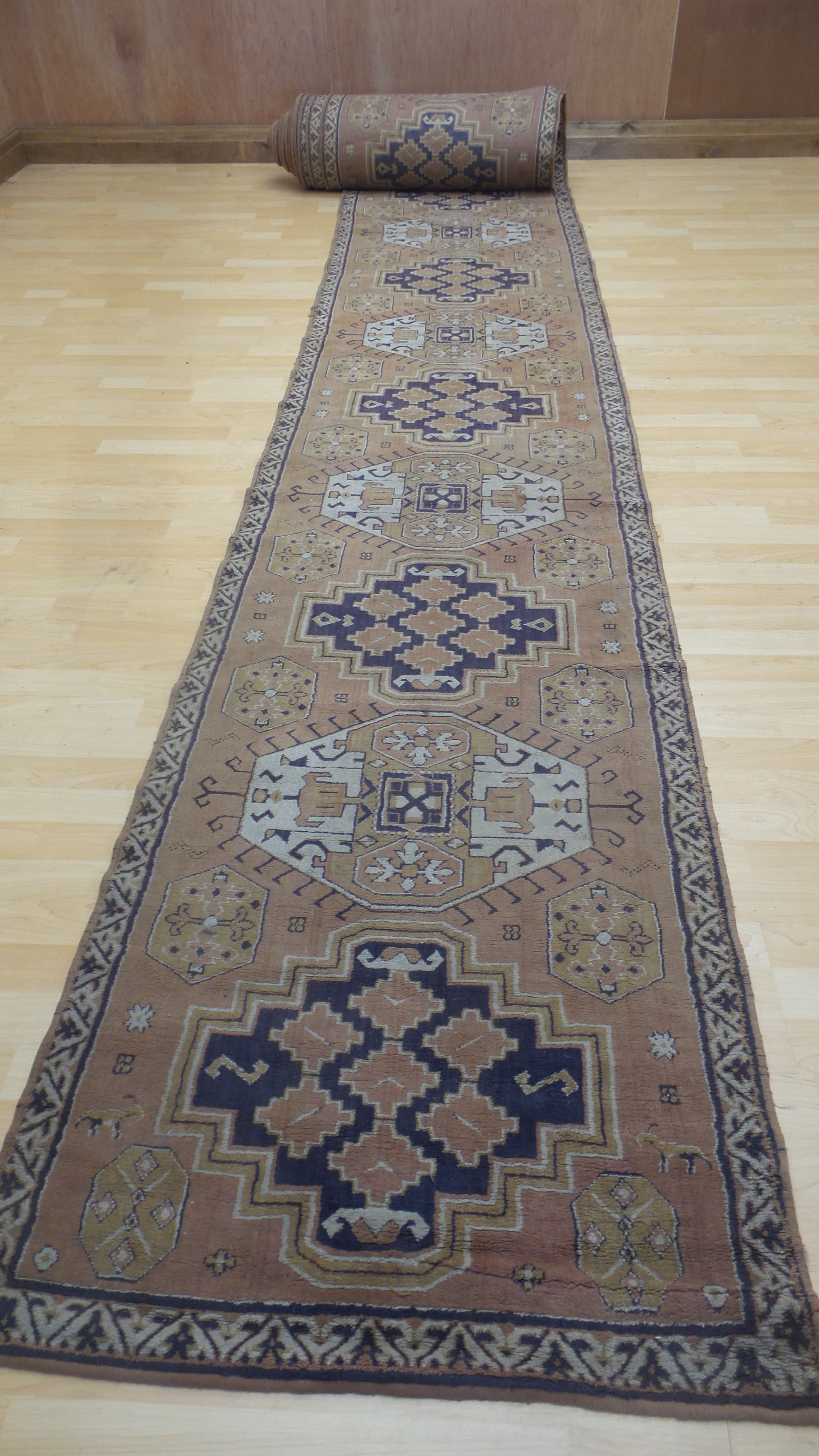 Incredibly Long Persian Design Stair Carpet Hall Runner Rug Oriental Design Tekke Scorpion 53 Feet Long Dating From 1940 S Tekke Turkmen Vinterior