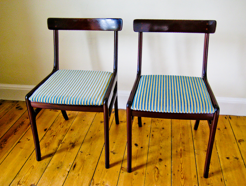 Pair Of Side Chairs In Mahogany By Ole Wanscher For Poul Jeppesen
