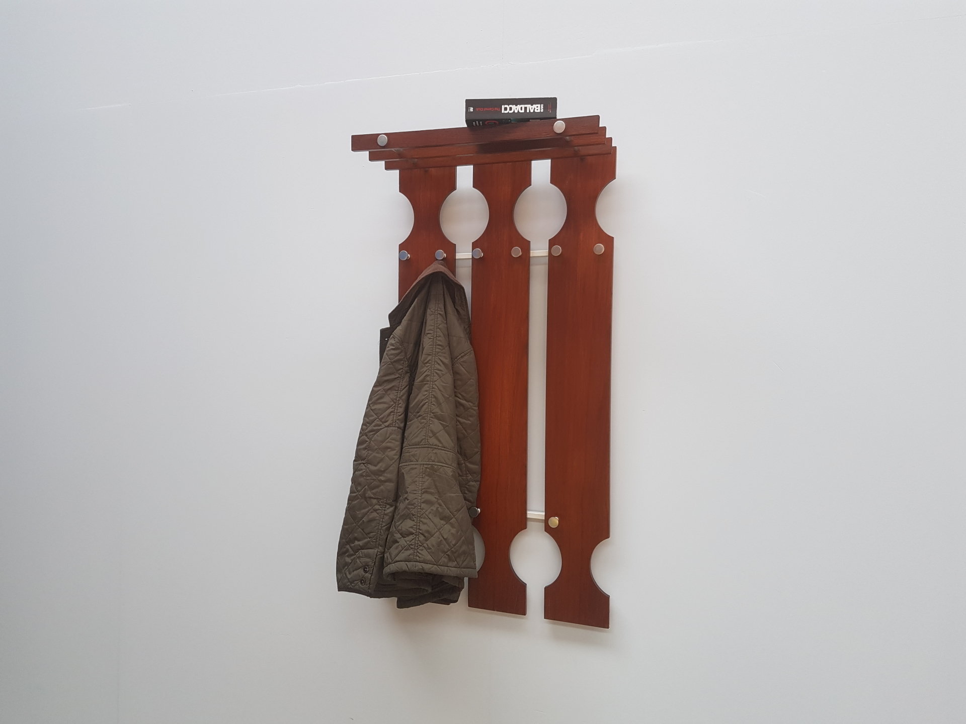 Vintage Teak Coat Hanger, Denmark 1960s