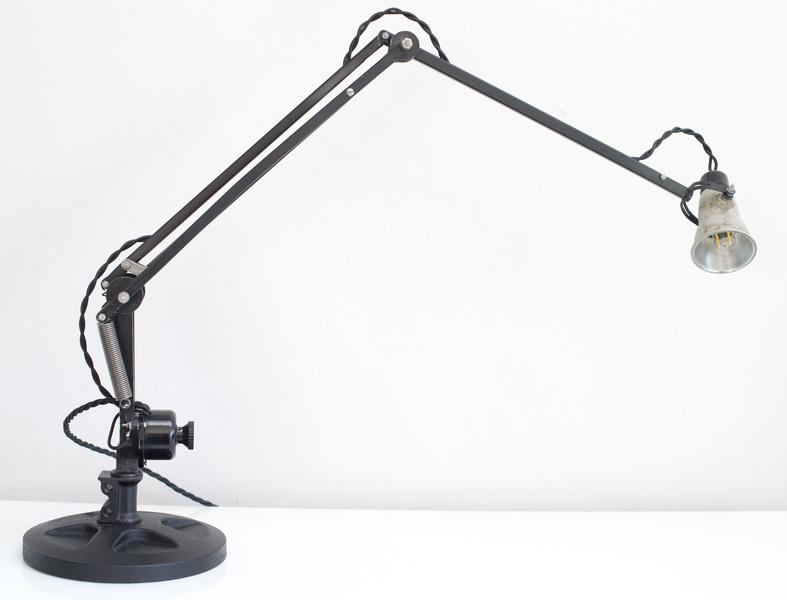 Anglepoise Desk Lamp circa 1940 chromed