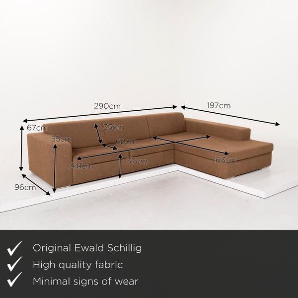 Ewald Schillig Fabric Corner Sofa Brown Sofa Function Couch 12822 Vinterior