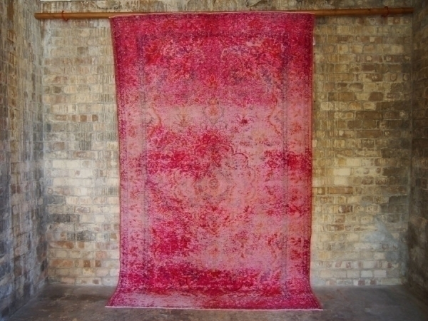 Pink Vintage Over Dyed Turkish Rug