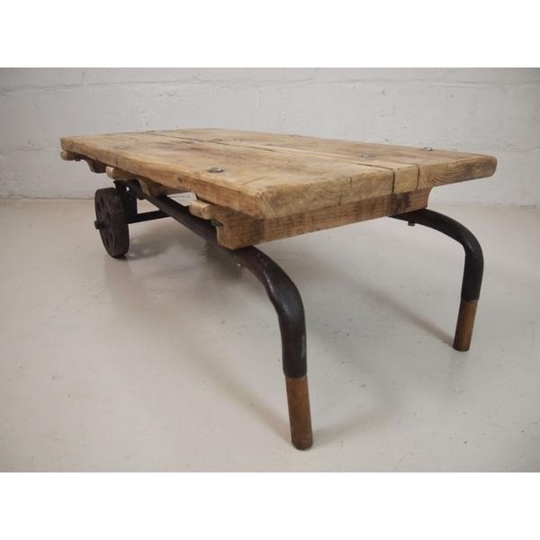 Vintage Industrial Sack Barrow Coffee Table