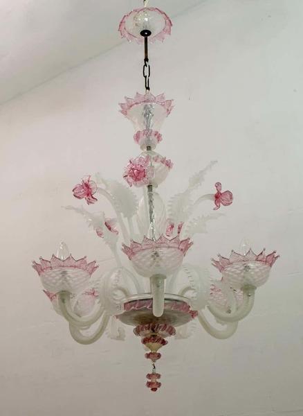 A 20th century glass chandelier, Murano, Venice, Italy