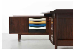 Thumb a rosewood desk with sideboard arne vodder 0