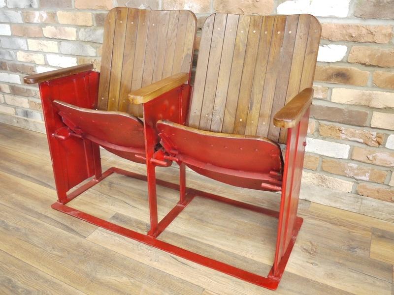 2 X Vintage Cinema Seats