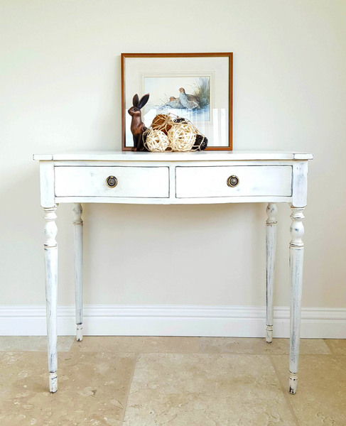Bow Front Console Table