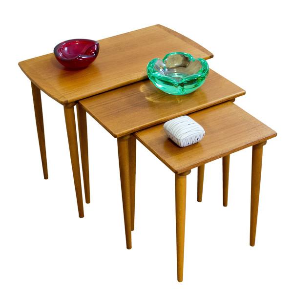 Set Of 3 Norwegian Nesting Tables