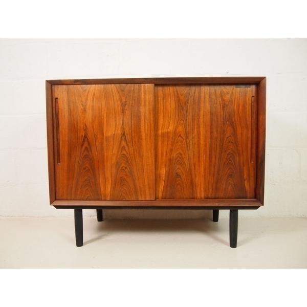 Danish Rosewood Sideboard With Sliding Doors
