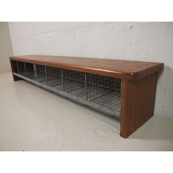 Vintage Locker Room School Bench In Solid Teak photo 1