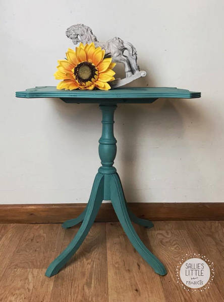 Tilt Top Table, Coffee Table, Side Table, Peacock, Teal Table