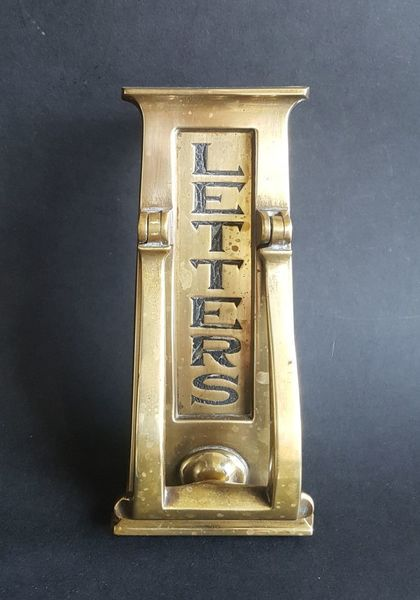 Beautiful English Arts And Crafts Door Knocker Letter Flap
