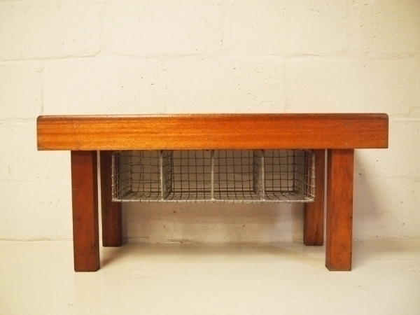 Solid Teak School Bench With Pigeon Hole Shoe Storage photo 1