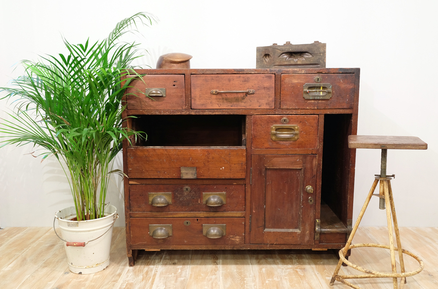 19th Century Industrial Cabinet