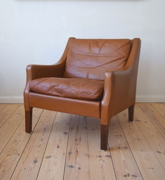 Danish Mid Century Rud Thygesen Leather Lounge Chair, 1960s