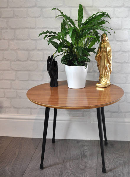 Vintage Retro Mid Century Coffee Table, Side Tables, Formica Table, Plant Table