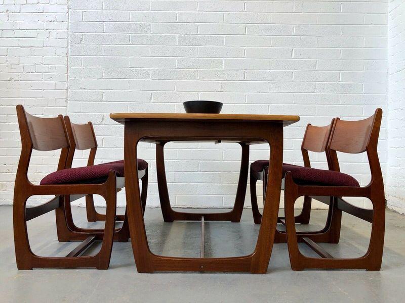 Vintage Portwood Teak Danish Dining Table Chairs G Plan Danish Retro Mcintosh Portwood Vinterior