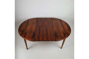 Thumb mid century danish rosewood round extendable dining table 1960s 0