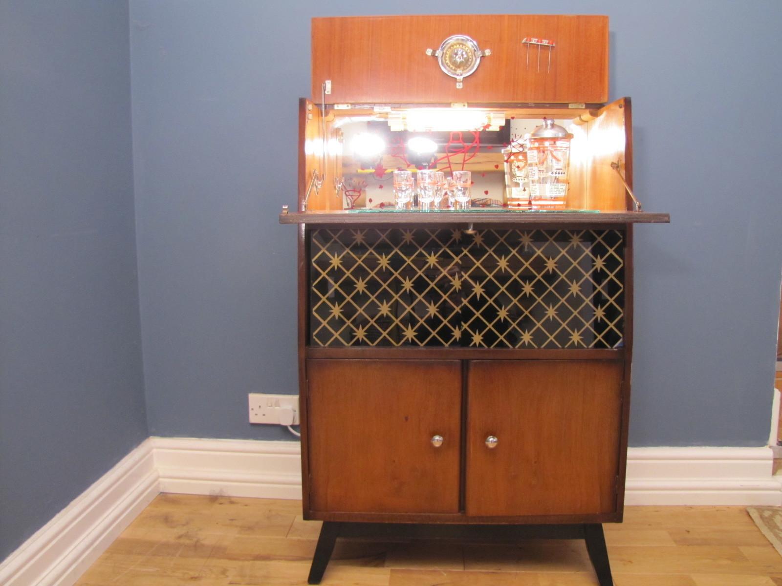 Cocktail Bar 1950 S Drinks Cabinet Home Bar Retro Vintage Vinterior