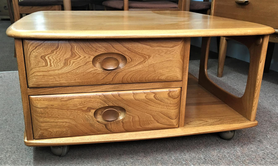Ercol Pandoras Box Coffee Table   Please See Full Description For Shipping Fees