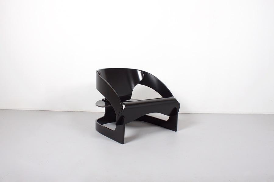 Joe Colombo Plywood 4801 Lounge Chair No 42, Kartell, 1960's