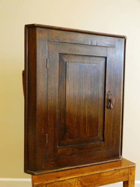 A Lovely Vintage Oak Corner Cupboard Wall Hanging Corner Cupboard C1920