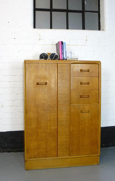 Vintage Mid Century Oak G Plan Tallboy, Chest, Compactum No2