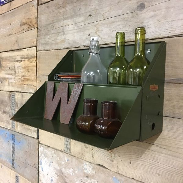 Metal Vintage Industrial Filing Drawers Loft Living Rustic Shelving Upcycled