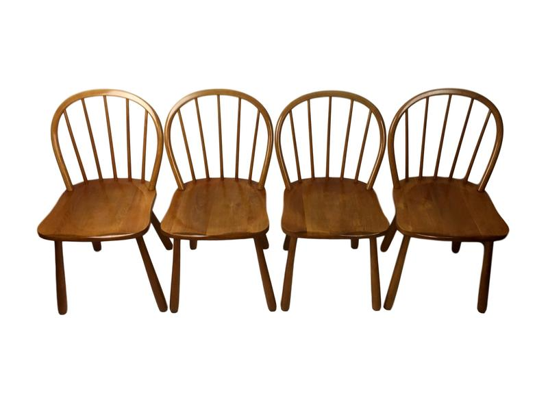 A Set Of Four Dining Chairs By Adolf Gustav Schneck, Model 1557