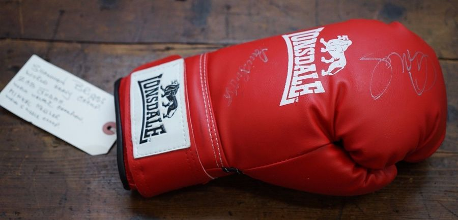 Boxing Signed Glove From Lennie Lee Shannon Briggs Mikkel Kessler Zab Judah