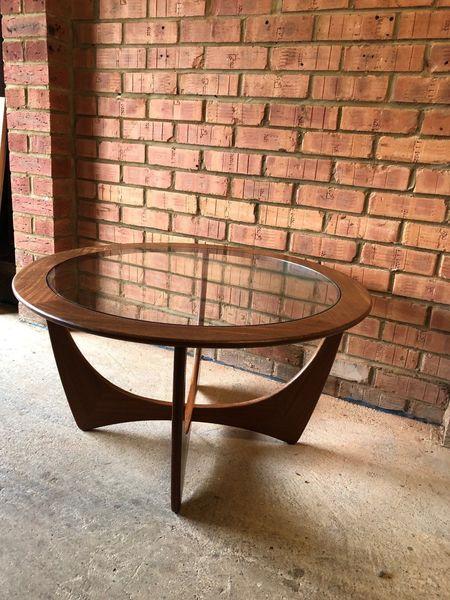 Vintage G Plan Coffee Table Teak/Glass Circa 1960's Circular