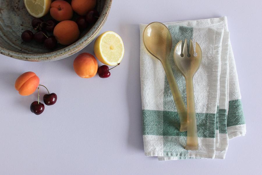 Vintage Salad Serving Spoon And Fork Set