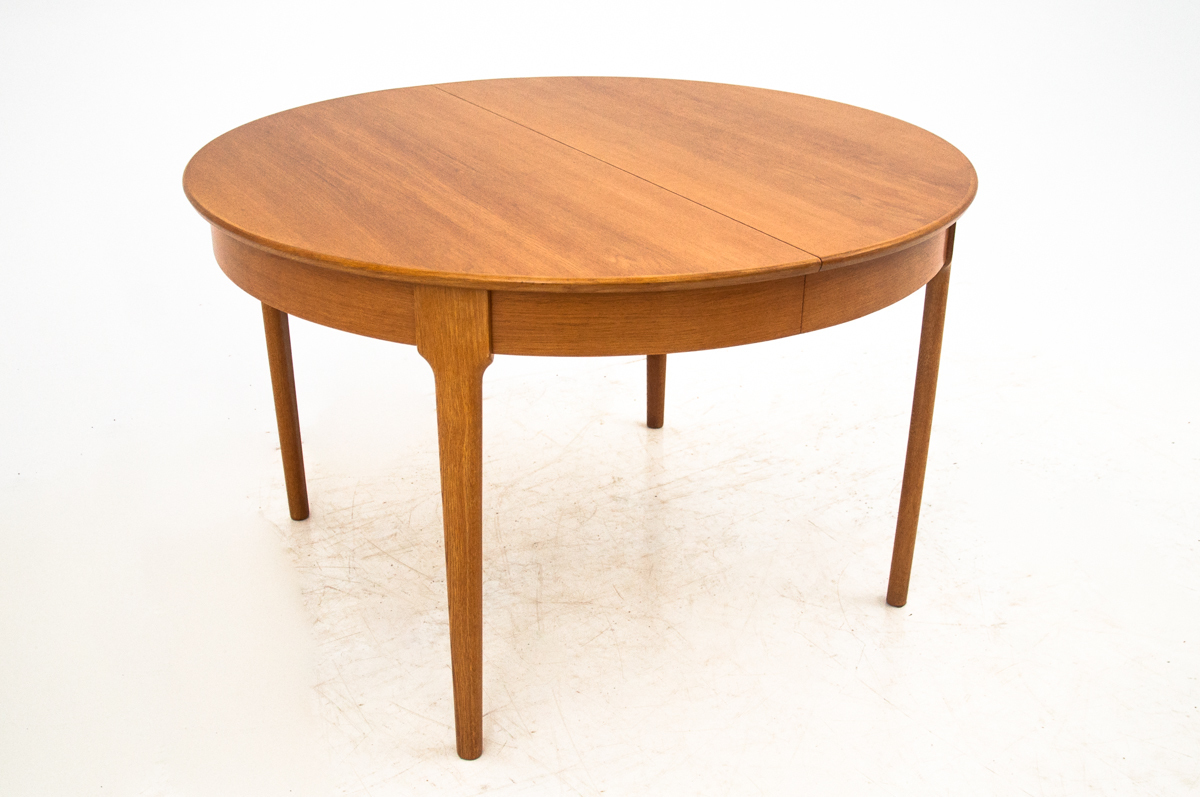 - Round Folding Dining Table In Teak Vinterior