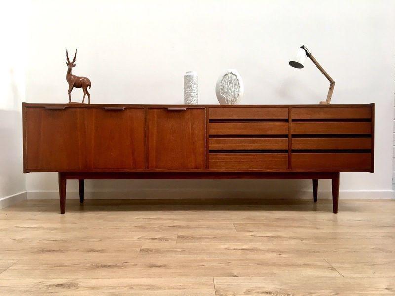 Superb Mid Century Vintage Danish Teak Large Sideboard Credenza 1960's