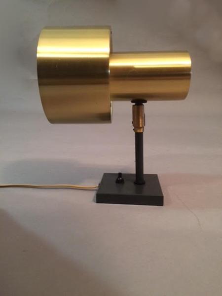 1970s Jo Hammerborg Brass Coated Aluminium Corda Wall Light For Fog And Mørup