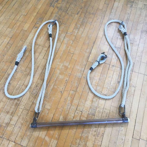 1x Vintage School Gym Rope Rustic Shabby Chic Shop