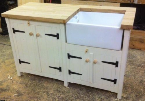 Have One To Sell? Sell It Yourself A Rustic Pine Freestanding Kitchen Belfast Butler Sink Unit Oak Top Utility Room