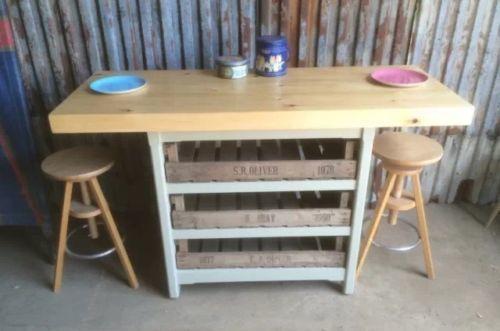 Brilliant Kitchen Island Breakfast Bar Drawers Butchers Block Storage Unit Solid Pine Evergreenethics Interior Chair Design Evergreenethicsorg