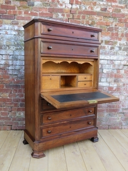 19c Secretaire Chest Of Drawers