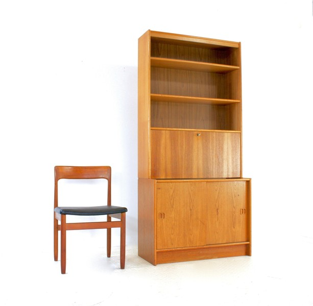 Vintage 1970s Swedish Teak Bookcase/Wall Unit