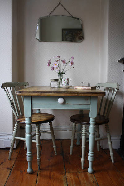 Characterful Rustic Vintage French Kitchen Table With Cutlery Drawer