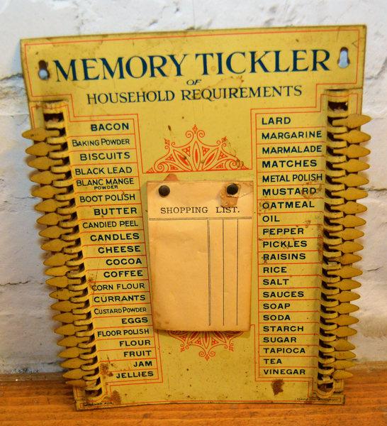 Stunning Memory List Tin Kitchen Sign