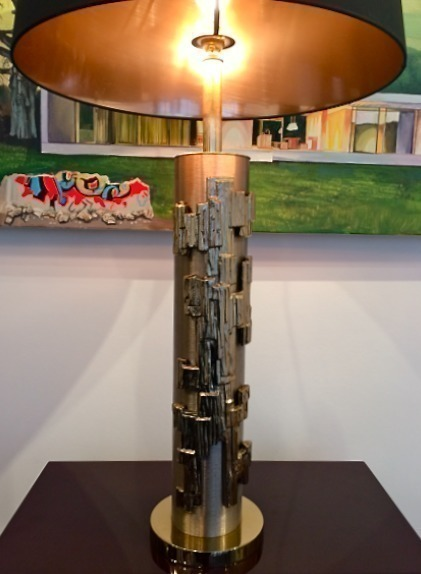 Large Brutalist Style Table Lamp