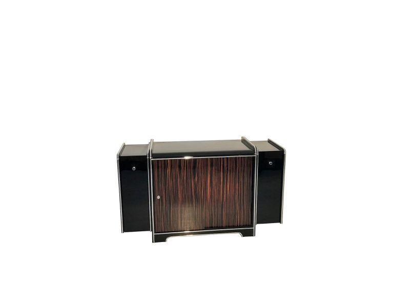 Art Deco Bar Cabinet Made Of Macassar Wood