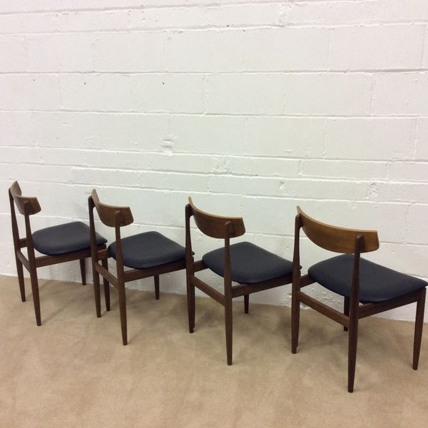 Mid Century Danish Style Teak Dining Chairs By G Plan Set Of 4
