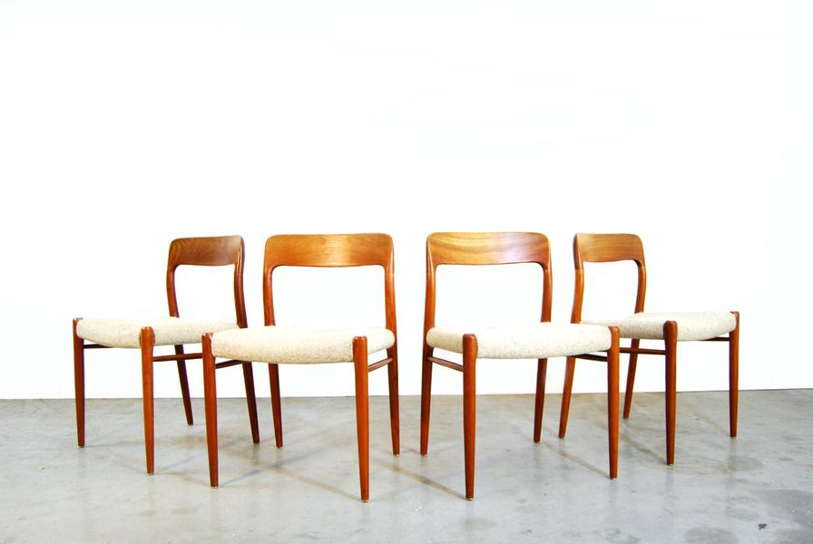 Danish Teak Dining Chairs By Niels O. Møller For J.L. Møllers, 1970s, Set Of 4