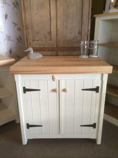 Kitchen Freestanding Double Cupboard And Solid Pine Handmade Rustic Storage Unit